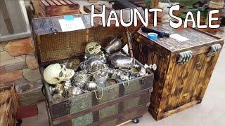 Cheap Outdoor Halloween Decorations   Home Haunt Garage Sale   Pirate Themed Halloween Prop Ideas