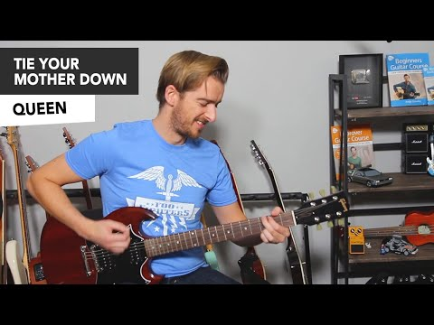 Queen - Tie Your Mother Down Guitar Lesson Tutorial mp3