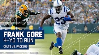 Andrew Luck's Bomb to Donte Moncrief Sets Up Frank Gore's TD Blast!   Colts vs. Packers   NFL