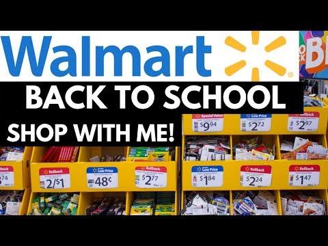 Walmart Back To School Shop With Me High School Teacher School Supplies Video + Haul