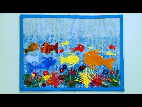 Fish Tank Wall Art   DIY   Fish Tank Wall Art Using Dry Sweeping Clothes