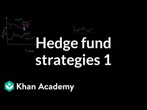 Hedge fund strategies: Long short 1 | Finance & Capital Markets | Khan Academy