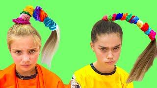 تقوم ناستيا ومارجريتا بتدريس قواعد السلوك للفتيات