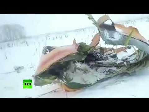 Flight 6W703: First video from Russian plane crash site