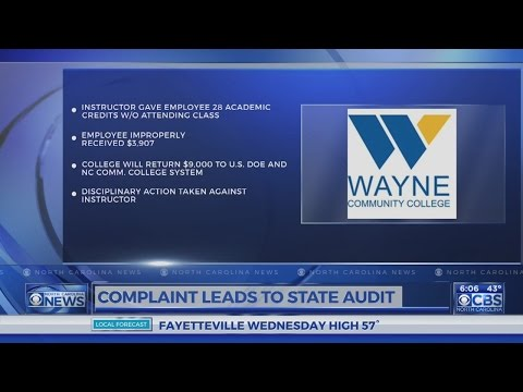 Audit finds Wayne Community College gave employee credit for classes he didn't attend
