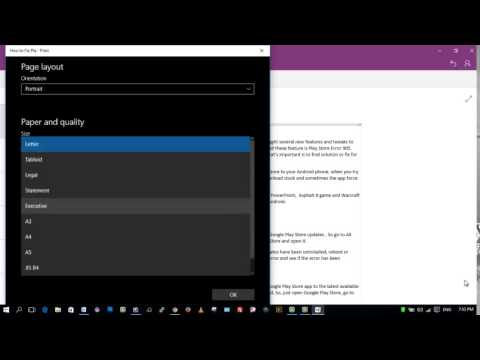 How to save your OneNote Document as PDF file in Windows 10