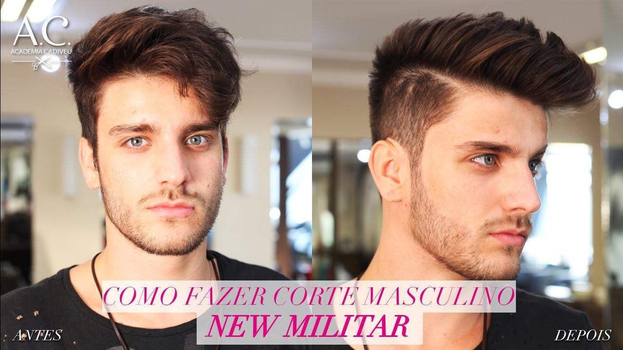 Como Fazer O Corte Masculino New Militar Youtube