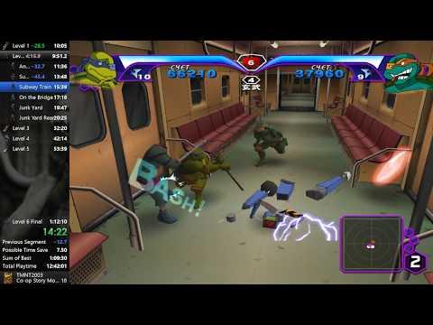 TMNT 2003 (PC). Speedrun Co-op Story Mode Any% [1:09:54] World Record