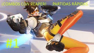 Combo de kills con REAPER!! Overwatch #1  Gameplay Español