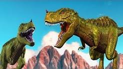 Jenis-jenis Dinosaurus   Dinosaurus Kartun   Video pendidikan anak   T-Rex   Compys   Pterodactyls