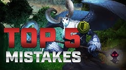 Top 5: Support Mistakes and HOW TO GET BETTER! - SMITE