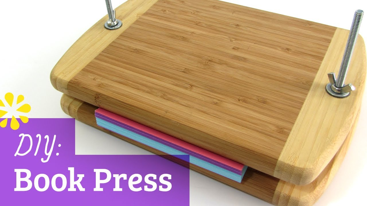 How To Make A Book Binding : How to make a book press sea lemon youtube