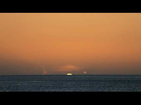 A Green Flash at Sunset.