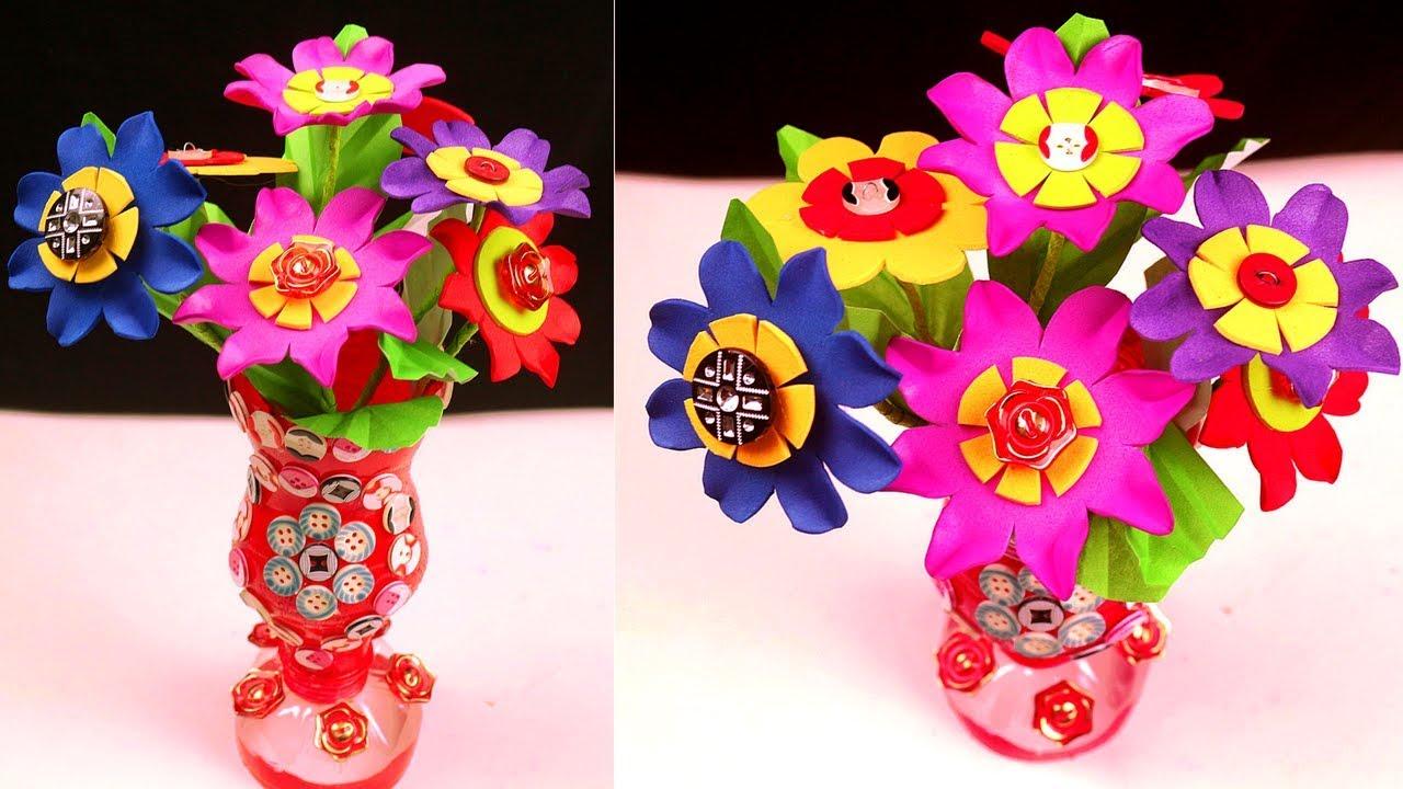 Flower Vase Making From Waste Material on making sculpture, making baskets, making flower boxes, making flower candles, making flower pillow, making pot, making flower art, making glass, making pottery, making flower bed,