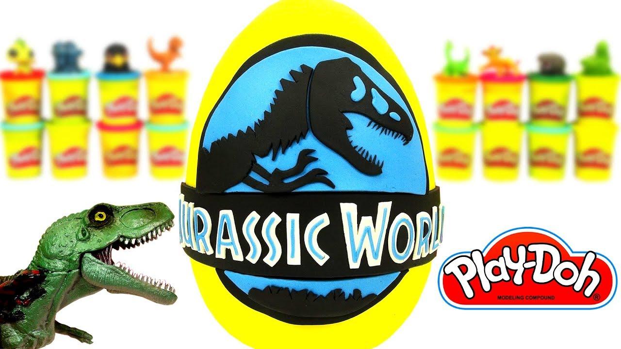 Jurassic World Sürpriz Yumurta Oyun Hamuru Dinozor Oyuncakları
