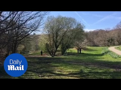 Police Survey The Scene After Boy Was Found Dead In A Park