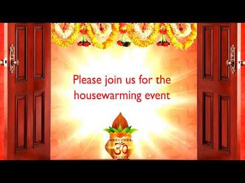 Griha Pravesh Puja Invitation Selfanimate