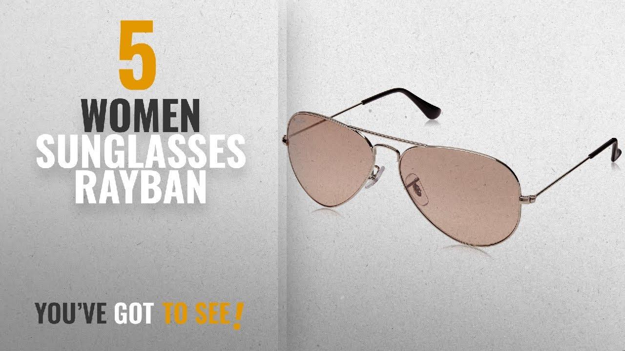 6b1c5212c0fe9 Top 10 Women Sunglasses Rayban  2018   Ray-Ban Aviator Sunglasses (Silver)  (0RB3025I003 3E58)