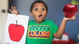 GOO GOO GAGA COLORS MAGIC FRUIT EDUCATIONAL VIDEO FOR KIDS AND TODDLERS LEARN WITH GOO GOO COLORS