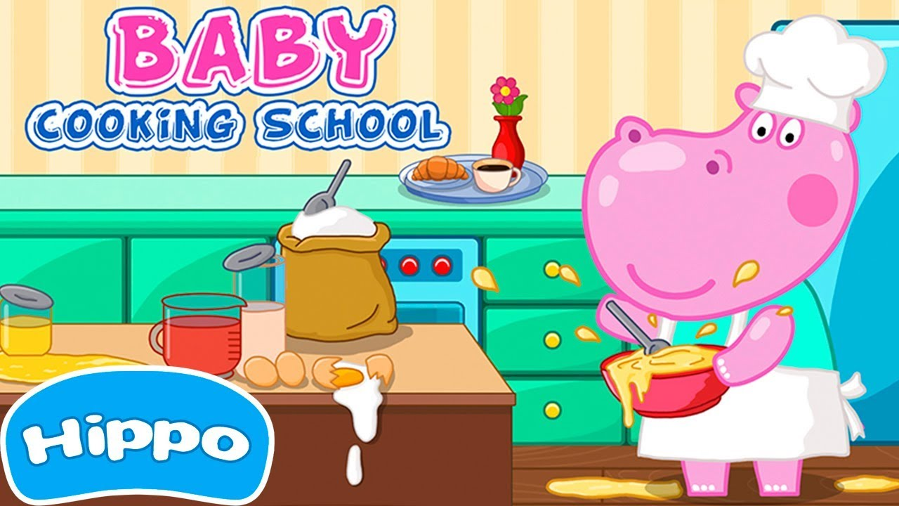 Hippo🌼 Baby Cooking School 🌼 Cartoon game for kids - YouTube