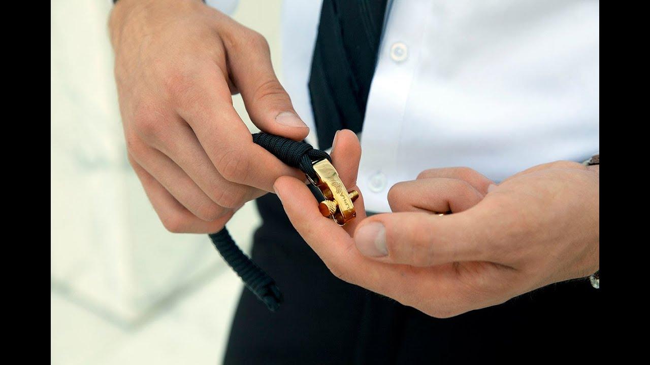 KCUF Slim Luxury Paracord Bracelet // 24K Gold (Medium) video thumbnail