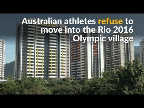 Athletes refuse to move into the