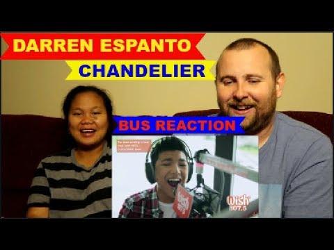 Darren Espanto - Chandelier (Sia) LIVE Cover on Wish FM 107.5 Bus HD  REACTION VIDEO!