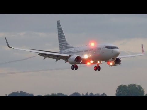 Boeing 737-700 BBJ N2708E Landing at Bern - Nonstop from China!