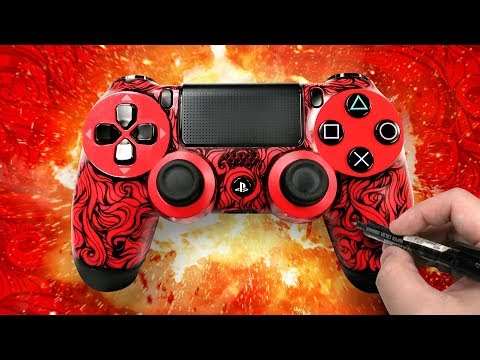 HOW TO MAKE A CUSTOM PS4 CONTROLLER USING MARKERS (DUALSHOCK 4)