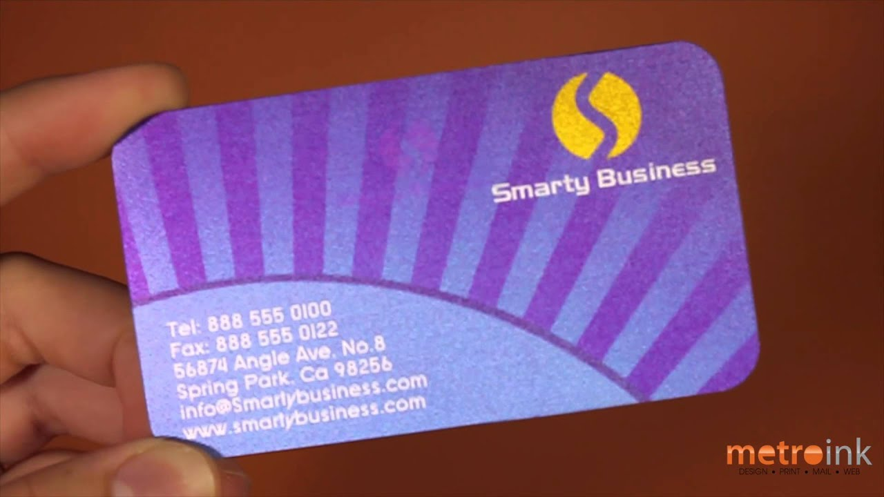 Metroink lenticular printed business card smarty business youtube metroink lenticular printed business card smarty business colourmoves