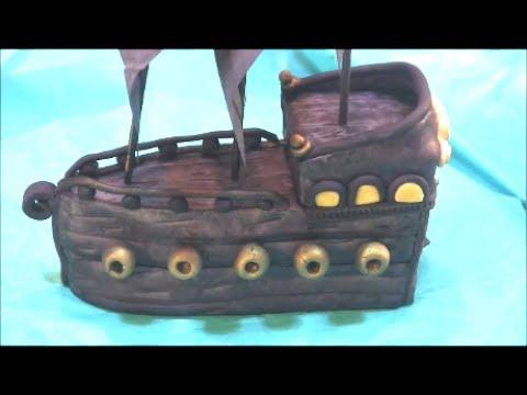 DIY Pirate Ship Cake Topper - Pirates of the Caribbean ...