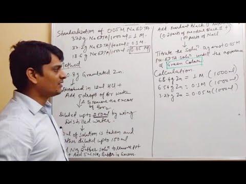 EDTA Standardization by Complexometry (Part 5)