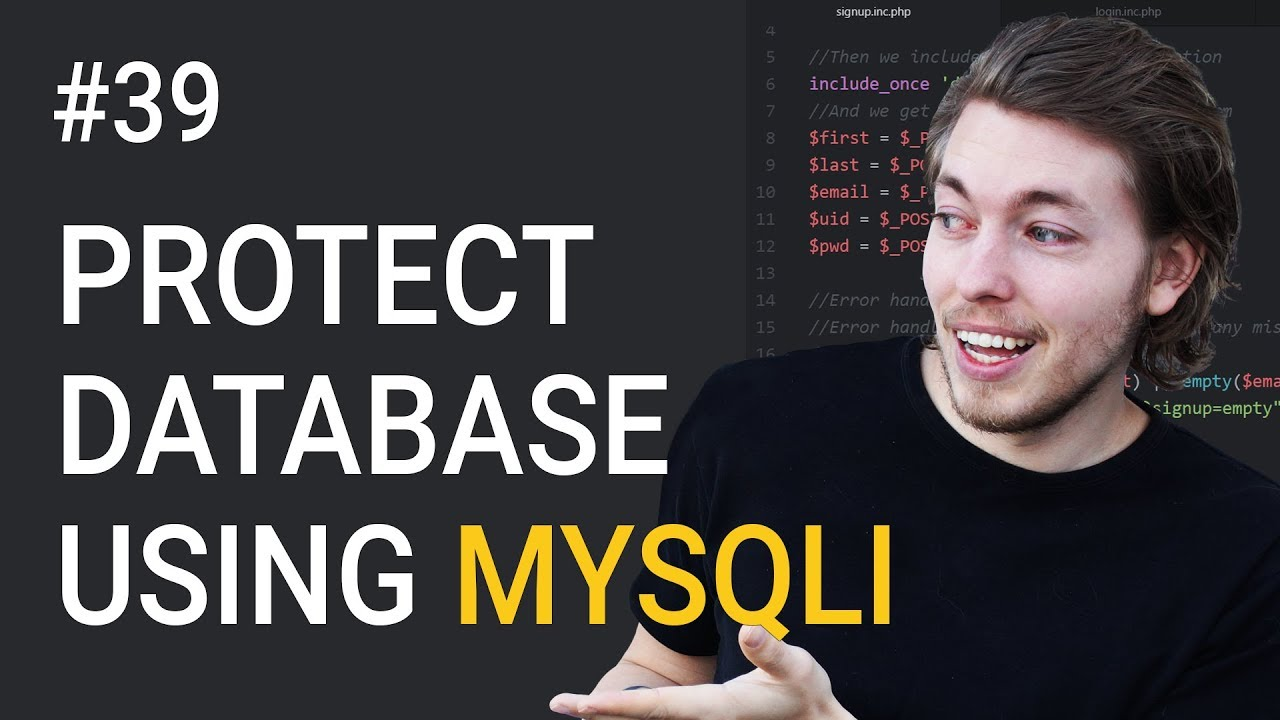 39: Protect your database against SQL injection using MySQLi | PHP tutorial | Learn PHP programming