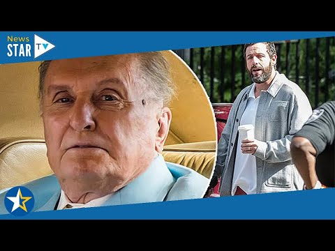 Adam Sandler and Robert Duvall hang out in a classic Rolls Royce while filming Netflix movie Hustle
