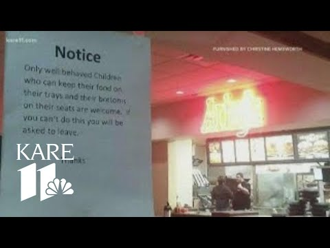 On The Web - Arby's Posts Sign Banning Unruly Kids