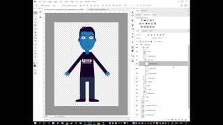 Создание анимации персонажа с помощью Photoshop или Illustrator
