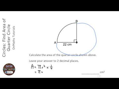Circles Find Perimeter Of Quarter Circle Grade 4 Onmaths Gcse Maths Revision Youtube
