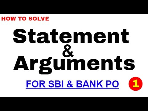 Statement and Argumetns Best Trick to Solve for Bank PO | In Hindi