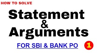 Statement and Argumetns Best Trick to Solve for Bank PO | In Hindi thumbnail