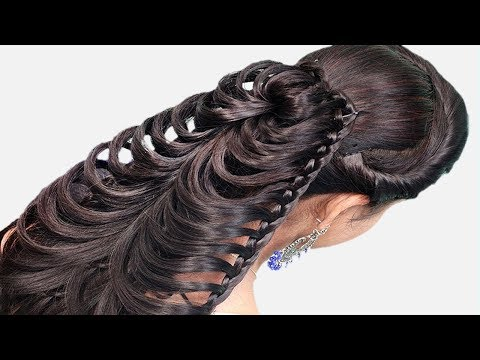 Party/wedding/Collage Hairstyles step by step | Cute Hairstyle for girls | Hairstyles 2019 thumbnail