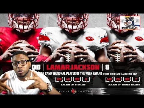 HEISMAN TROPHY FRONT RUNNER LAMAR JACKSON SPOTLIGHT VIDEO!!! NCAA FOOTBALL 14 GAMEPLAY