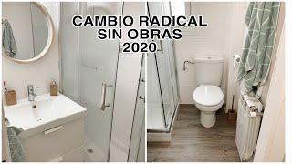 Renovar un baño SIN OBRA  fácil y low cost  / Transformación radical / Tendencias decoración  2020