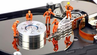 How hard disk read a data Inside view of head and disks