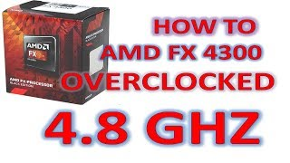How To Overclock Amd Fx Processor Using Bios- Unlocking Amd Fx 4300 - Increase Amd Cpu Speed