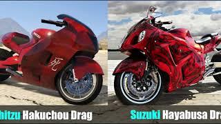 GTA V Online Bikes VS Real Life Bikes | All 50+ Motorcycles