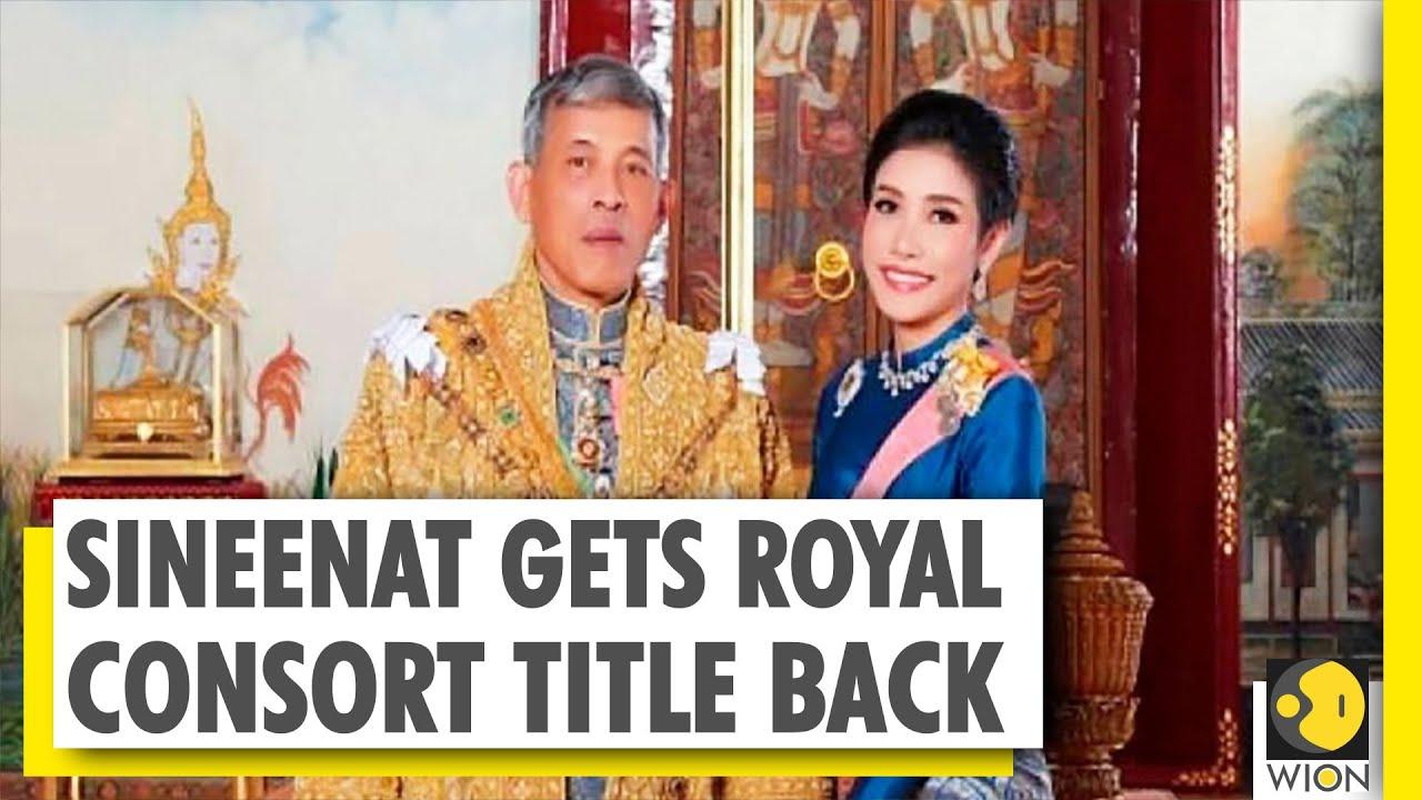 Download Thailand King Maha Vajiralongkorn reconciles with ousted consort Sineenat
