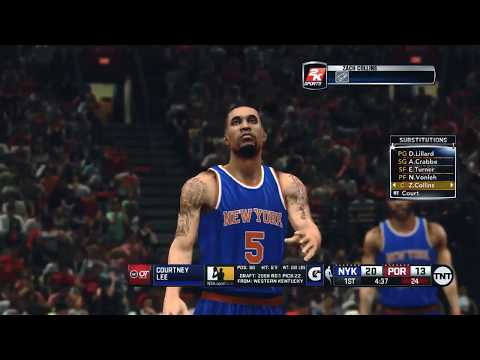 NBA 2K14 (2K18 Mod) - New York Knicks at Portland Trail Blazers (TNT Presentation)