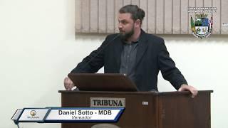 29ª Sessão Ordinária - Vereador Daniel Sotto