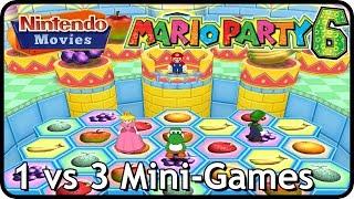 Mario Party 6 - All 1 vs 3 Mini-Games (+Mic Mini-Games, Multiplayer)