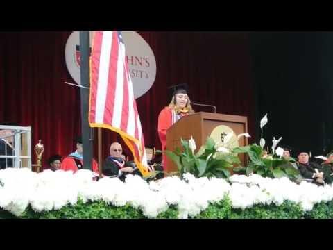 Rosanna Scotto speaks at the St. John's University graduation